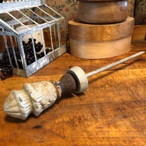 Vtg/antique heavy ice pick tool, ornate, handmade